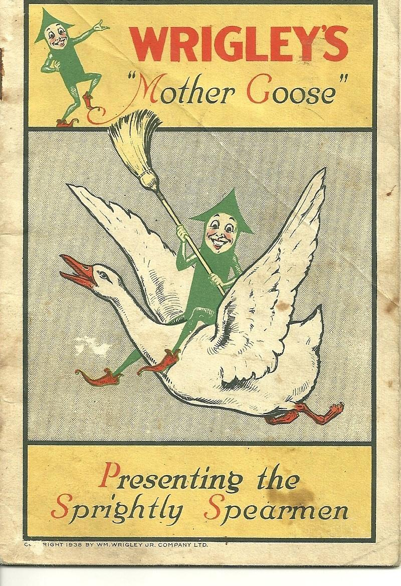 Vintage Advertising Premium Booklet Wrigley's Mother Goose