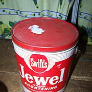SALE Vintage Advertising Pail for Swift's Shortening  Jewel BIJOU  Toronto Ontario Canada