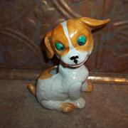 Charming Porcelain Puppy Dog Pin Cushion Figural