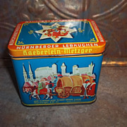Advertising Tin   Gateaux D'Epice De Nuremberg Haeberlein - Metzger