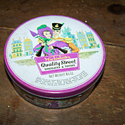 Vintage Collectible Empty  Advertising Tin  Quality Street Mackintosh's