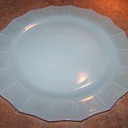 "Vintage Blue  Kings Crown Pyrex 11.5""  Glass Dinner Plate"