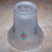 Pretty Vintage Reverse Floral Motif  Glass Shade