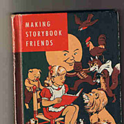 Making Story Book Friends Laid Law Hard Covered Book Reader