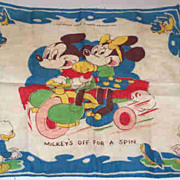W.D.P. Hankie Featuring Mickey & Minnie Mouse,  Blue Birds & 2 of Donald Ducks' Nephews