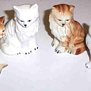 Lot ( 4 ) Vintage Ceramic Kitty Cat Figurines