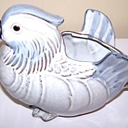 Vintage Japan Figural Bird Planter Mandarin Drake Duck