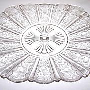 Paneled Daisy  / Brazil / Daisy & Panel Pressed Glass Plate
