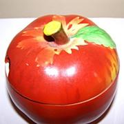 Hand Painted  Apple Jelly Jar / Jam Pot