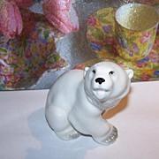 Wonderful Quality Polar Bear Porcelain Figurine Lomonosov