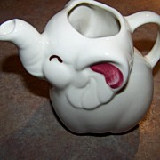 Lucky Trunk Up Shawnee Pottery Elephant Creamer