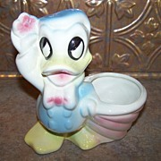 American Bisque Donald Duck Pottery Planter