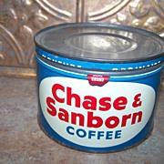 One Pound Chase & Sanborn Coffee Tin Regular Grind