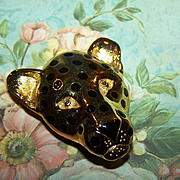 SALE Vintage Designer Signed Carolee Spotted Leopard Pin