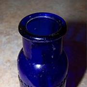 Cobalt Blue Bromo Seltzer  Emerson Medicine Bottle Toronto