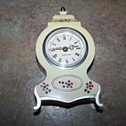 Vintage Hand Painted Plastic Westclox Wind Up Alarm Clock