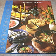 """H.C. Book ' Country Cooking """"  American Country  C. 1989"""