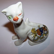 The Cheshire Cat Always Smiling Crested China Figurine  Chester