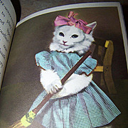 "Rand McNally Elf Book "" Little Friends "" Animals Playing Dress - Up"