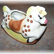 Figural Pottery Rocking Horse Sugar or Planter