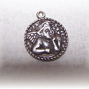 Small Vintage C. Sydney Smith Sterling Silver Putti Angel Charm