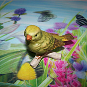 Goebel Bird on Branch  Figurine 38026 Greenfinch