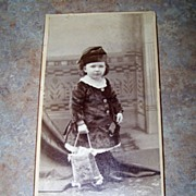 Large Boudoir Sepia Photograph Card Sweet Little Girl