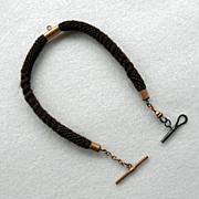 Victorian Hair Watch Chain