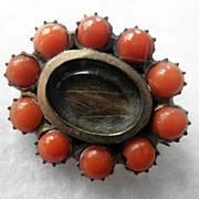 Antique Georgian Coral Fichu Pin/Brooch