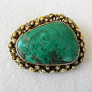 Sterling & Turquoise Pendant/Brooch