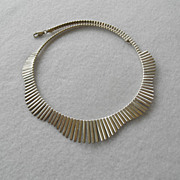 Vintage Sterling Fringe Collar Necklace.