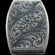 Continental 800 Silver Snuff or Pill Box