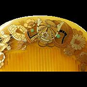 Japanese Kushi Comb Hair Ornament Meiji Period