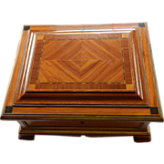SOLD Antique French King Wood Jewelry Casket Napoleon III