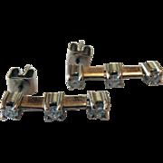 14K White Gold Diamond Journey Earrings