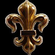 Vintage 14K Fleur-Di-Lis Watch Pin