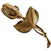 14 Karat Yellow Gold Vintage Rose Bud Pin/Brooch
