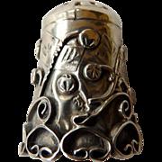 Vintage Sterling Mexico Decorative Thimble