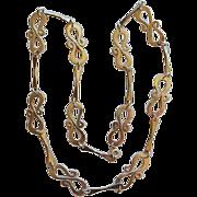 """Vintage Sterling Silver Figure 8 Necklace 27"""""""