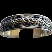Vintage Sterling Open Cuff Bangle Bracelet