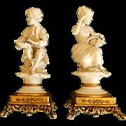 Pair Porcelain Figurines Signed Luis G. Benacchio