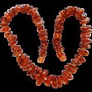 Vintage Baltic Honey Amber Necklace