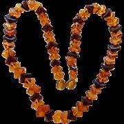 Vintage Baltic Multi Color Amber Necklace
