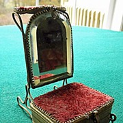 Antique 19th Century French Watch Holder & Box