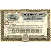 SOLD 19__ Washington Railway & Electric Stock Certificate