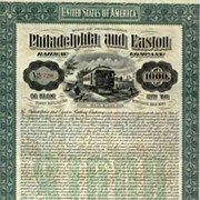 SOLD 1904 Philadelphia & Easton RW Bond