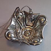French Tea Strainer , 800 Silver , Circa 1900