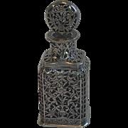 Antique  Silver Scent Bottle, Turkish Ottoman Empire , Circa 1900