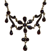 SALE Antique Garnet Necklace