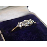 Antique Diamond Ring , 18CT , English Circa 1890